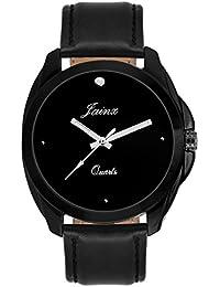 Jainx Black Dial Analog Watch For Men & Boys - JM235