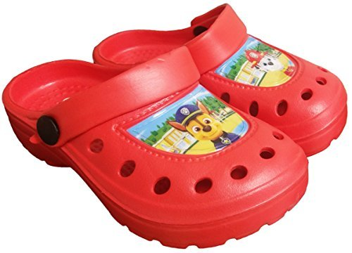 Paw Patrol Red Boys Beach Sandals Clogs Mules Summer Character Shoes Sizes UK 5-11 (7-8 UK Child)