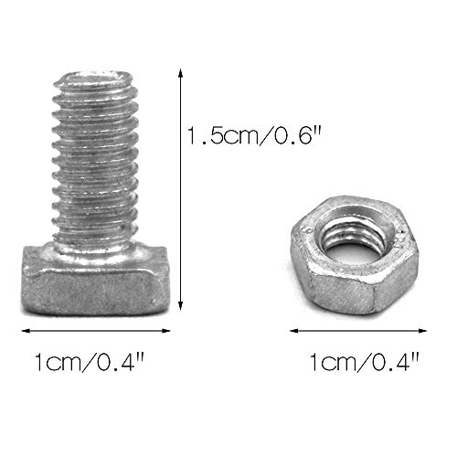 Aluminium Hammerkopfschrauben mit Muttern Gewächshaus Zubehör Schrauben Teile