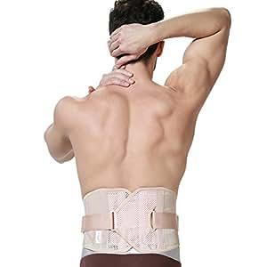 Ceinture lombaire ULTRA LÉGÈRE et très mince de marque Neotech Care - Soutien posture pour homme - Support bas du dos - Niveau de compression ajustable - Matériau respirant (Noire, M)