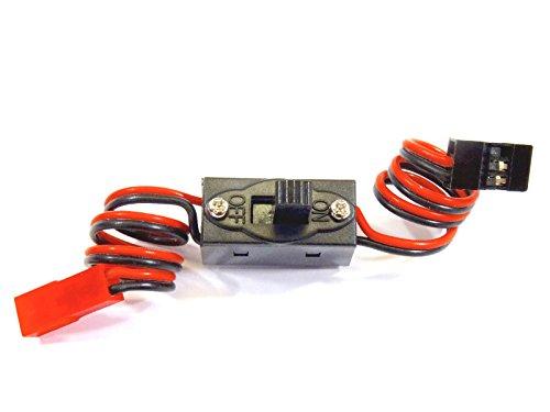 VUNIVERSUM 1x Stück Premium Schalterkabel Power Schalter Kabel JST Stecker auf JR RX An/Aus RC Powerschalter für Empfänger Lipo Akku Batterie Switch Qualität von Mr. Stecker Modellbau®