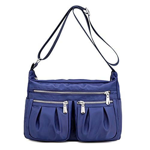 HT Nylon Cross Body Handbags, Borsa a tracolla donna Blue