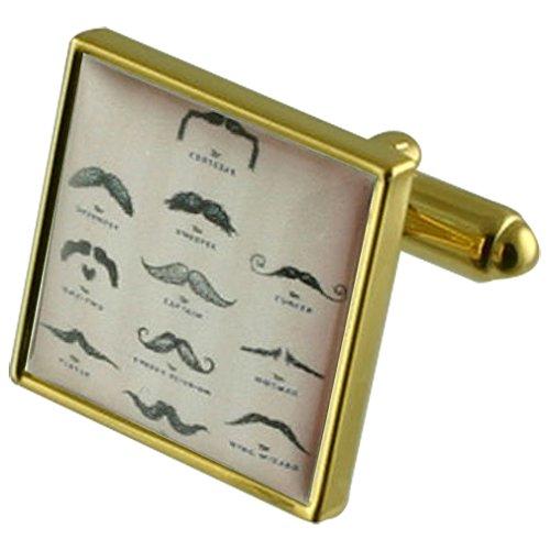 (Select Gifts Movember Wallpaper gold Manschettenknöpfe Wählen Sie Geschenke Beutel)