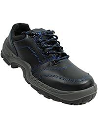 Année-lumière - Chaussures De Protection Homme Noir En Cuir Noir, Couleur Noir, Taille 41