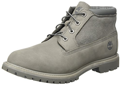 Timberland Damen Nellie Leather and Suede Non-Waterproof Chukka Boots, Grau (Steeple Grey), 36 EU -