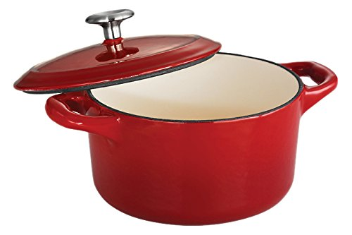 Tramontina Enameled Cast Iron Skillet and Dutch Oven - Horno Coco. 24-Oz Color rojo.