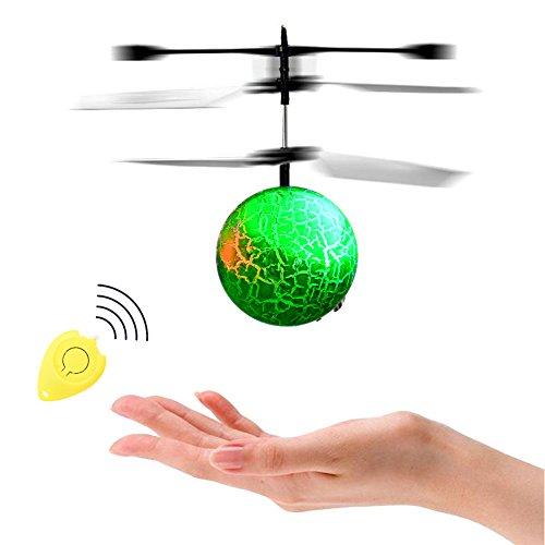 Acefun RC Flying Ball, Bola de helicóptero de inducción infrarroja con LED Intermitente Que Destella la iluminación para niños y Adolescentes