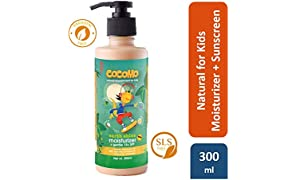 Cocomo Natural Sulphate and Paraben Free Moisturiser (Body Lotion) and Sunscreen Lotion for Kids (SPF 15) - Earth Shine 300ml (Age: 4 yrs and above)