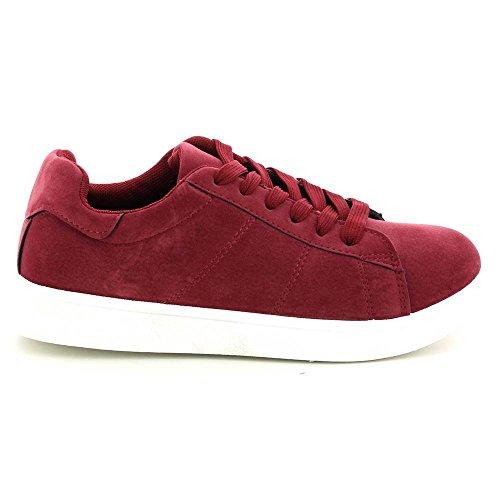 Scarpe sportive stile camoscio morbidi con piattaforma 2 cm Rosso