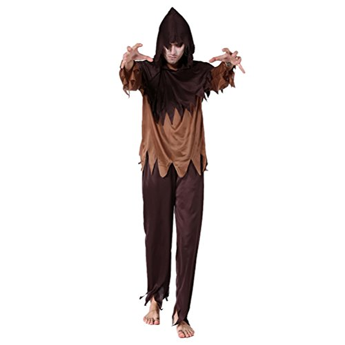 Zhuhaitf Karneval Mittelalterlich Fancy Dress Kostüm Partei Outfit für Halloween Erwachsener Herren Cosplay Robe Set Style 1-4 Available