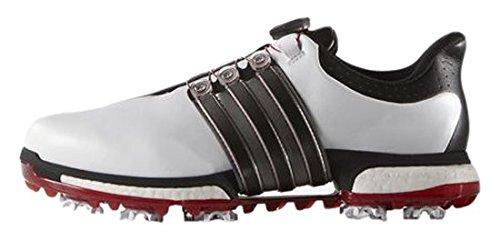 ADIVI|#Adidas Herren Tour 360 Boa Boos Golfschuhe, Weiß (White/Core Black/Power Red), 44 EU (Comfort White Golfschuh)