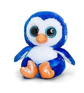 Animotsu Pingüino de Peluche, acompañante Suave con Grandes Ojos Brillantes, Aprox. 15 cm.