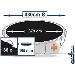 Tapis de rechange pour trampoline - Diamètre: 430cm - 88œillets - Ressorts: 16,5cm
