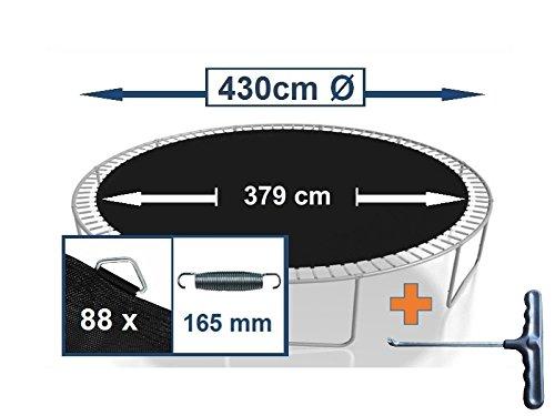 Sprungtuch Sprungmatte Ersatzteile für Trampolin Ø 430 cm 88 Ösen (Federn 16,5 cm)