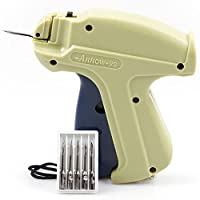 Clothes Tagging Tag Gun Price Labeller Labelling Machine Clothing Laundry Pricing Pricemarker Kit Fabric Tag Attacher Fasteners with 6 Stainless Steel Needles + 1000 Kimble Barbs 80mm