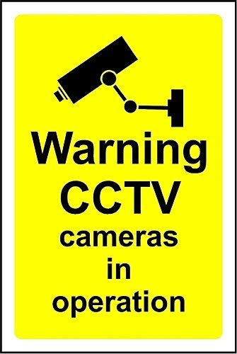 Shimeier Warning CCTV Cameras In Operation Safety Retro Vintage Tin Sign Coffee House Business Dining Room Pub Beer 20 cm x 30 cm Vintage Folding Camera