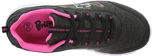 Brütting Bolero, Baskets Basses Mixte Adulte Noir (Schwarz/pink)