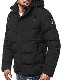 b6b27f832fce OZONEE Herren Winterjacke Parka Jacke Wärmejacke Wintermantel Coat Kapuze  Wärmemantel Modern Täglichen ...