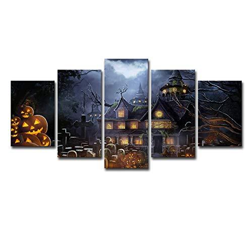 ChuangYing Fünf Gruppen von Halloween Film Urlaub Friedhof Kürbis Moderne Hauptdekoration Art Wandtattoo