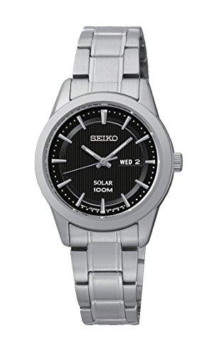 Seiko - Orologio da polso, analogico al quarzo, acciaio inox