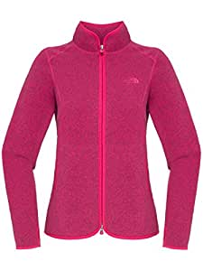 The North Face Women's Crescent Point Full Zip Sweater, Passion Pink Heather, L