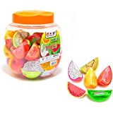 INFInxt Fruit Shaped Sharpener for Kids Stationery and Birthday Return Gift (Pack of 1 Jar)
