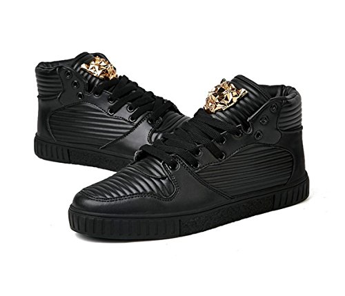 HYLM Chaussures de skateboard pour hommes occasionnels Black