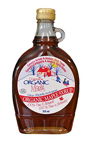 Canadian Organic Maple Syrup Grad A Amber, Single Source, 375ml