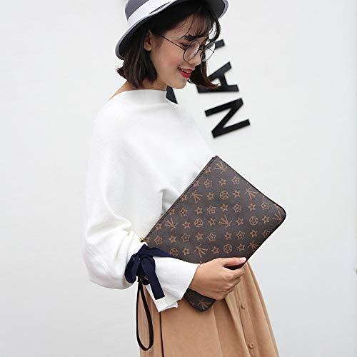 Ldyia Damentasche Damentasche Damen Geldbörse Lange Geldbörse Hand greifen Hand Clutch Bag Unisex, braun