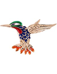 Rrimin Alloy Crystal Colorful Flyer Brooch 50*30mm