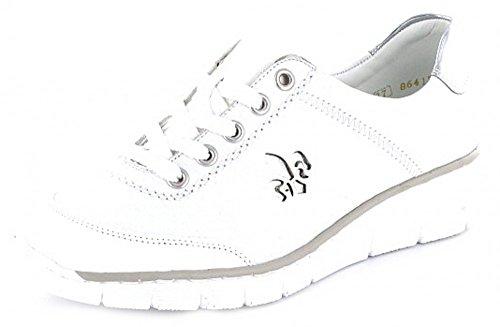 Rieker53701-80 - Zapatos Amarillos Mujer Cerrados