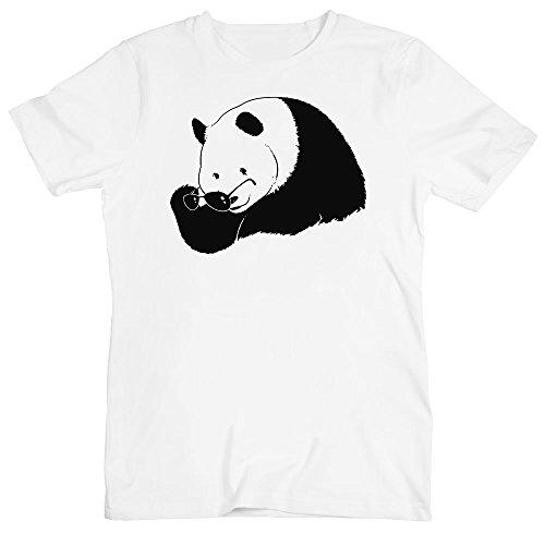 idcommerce Cool Panda Taking of Sungalsses Herren T-Shirt XX-Large