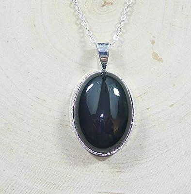 Pendentif Obsidienne Oeil Céleste - Pierre Naturelle - Lithothérapie - Protection