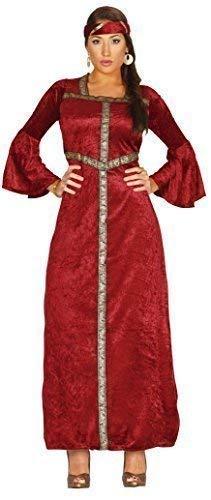 Renaissance Prinzessin Mittelalterlich Historische Volle Länge Gothik Verkleidung Kostüm Outfit Übergröße - Rot, 14-18 ()