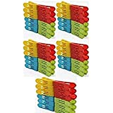 IMTION 72 Pcs Cloth Clip Plastic Sturdy Clip Laundry Clothesline for Drying Clothing (Colour May Vary)