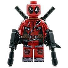 Deadpool Mini Figura Llavero Con Armas De Fuego Y Espadas