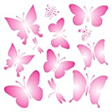Schmetterlinge Schablone–wiederverwendbar Libellen Schmetterlinge Bienen Wand Schablone–Vorlage, auf Papier Projekte Scrapbook Tagebuch Wände Böden Stoff Möbel Glas Holz usw. L