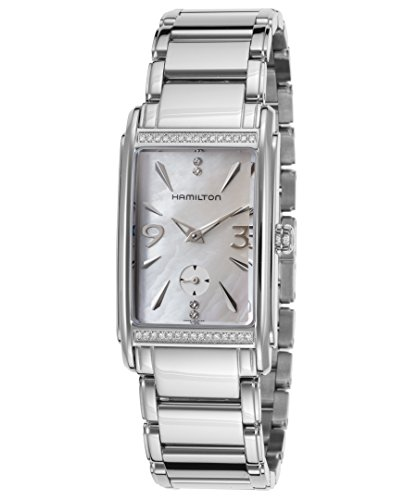 Hamilton Women's Steel Bracelet & Case Anti Reflective Sapphire Swiss Quartz White Dial Watch H11491115