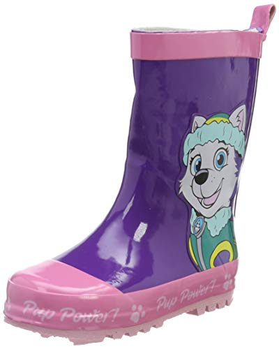 Paw Patrol Mädchen Girls Kids Boots Rainboots Gummistiefel, Violett (Dark Purple), 25 EU