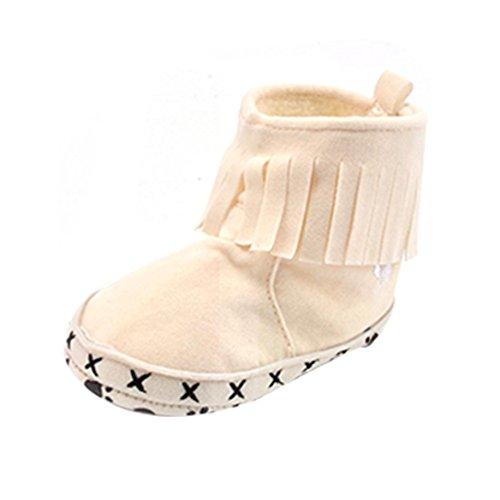 Babyschuhe Longra Baby Mädchen Baumwolle Soft Sole Schneestiefel l eiche Krippe Schuhe Lauflernschuhe Kleinkind Stiefel(0-18 Monate Baby) Beige