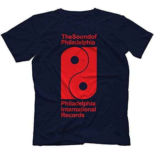 Philadelphia International Records T-Shirt 100% Baumwolle Marineblau