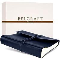 Belcraft Tivoli Album Fotografico in Pelle Riciclata, Realizzato a Mano da Artigiani Toscani, A4 (23x30 cm) Blu