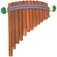 Kunsthandwerk Lateinamerika Panflöte aus Bambus braun, Grösse:17.5 x 13 cm