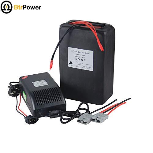 48v 20ah Ebike Battery Pack für 1000 Elektrisches Fahrrad Roller, Lithium-Batterie mit 5A-Ladegerät BMS