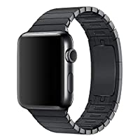 Stainless Steel Band Strap With Screen Protector For 42Mm Apple Watch, Black