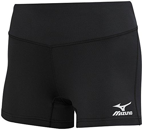 Nike Volleyball Spandex (Mizuno Damen 440656.9090.04.s Victory 8,9cm Hosenlänge Volleyball Shorts, Schwarz, Small)