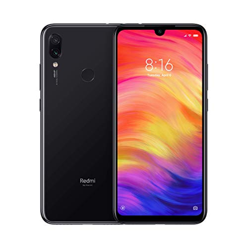 "Xiaomi Redmi Note 7 Smartphone da 6.3"" FHD+ Dot Drop display, Snapdragon 660, 4 GB RAM, 128GB, 48 MP+5 MP Rear Dual Camera, Space Black [Versione Globale]"