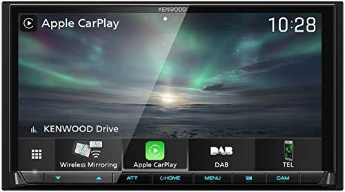 Kenwood DMX8019DABS 17,7 cm WVGA Digital Media Moniceiver mit DAB+, Wireless CarPlay, Android Auto, Wireless Android Mirroring, WiFi, Dual-USB, HI-Res Audio, kapazitiver Touchscreen