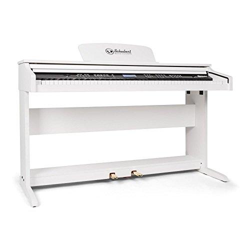 Schubert Subi88P2 Keyboard E-Piano (MIDI-Unterstützung, 88 Tasten, Anschlagdynamik, vorinstallierte Instrumente, Rhythmen, Demo-Lieder, 2 Pedale, LCD-Display) weiß