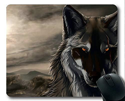 Yanteng Gaming-Mauspad, Wolf Dark Mauspads (Mehrfarbig)